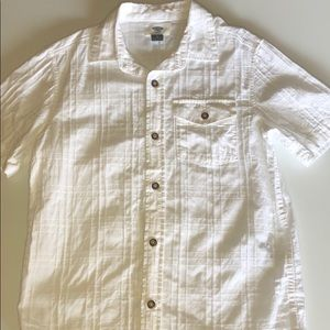 Old Navy white shirt sleeved button down